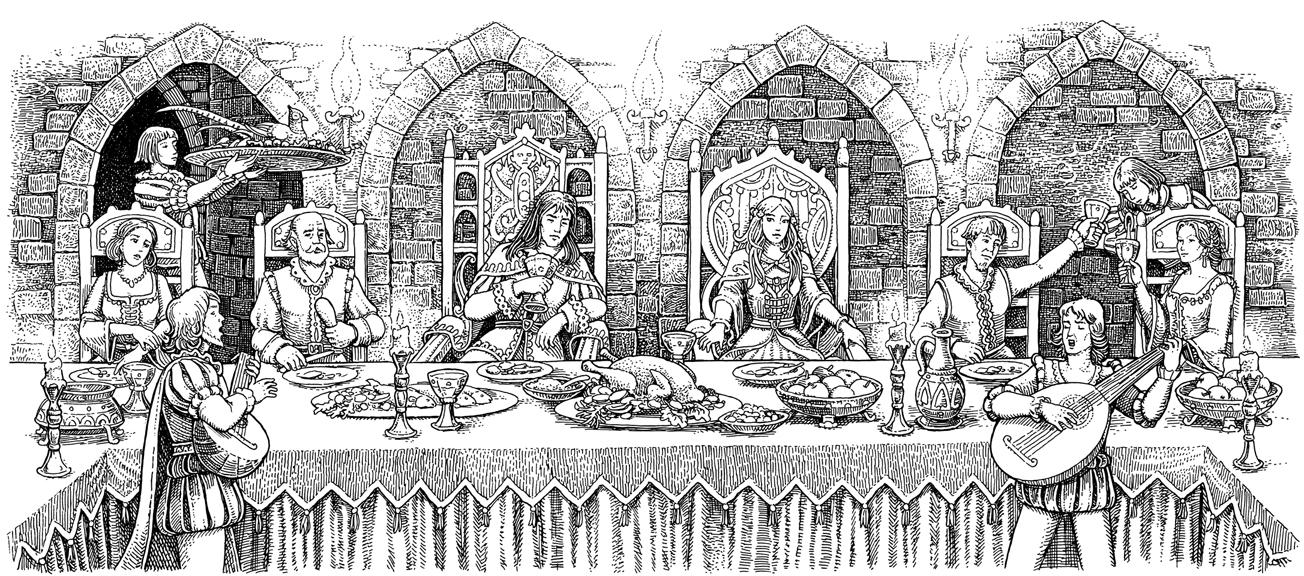 Ilustracija za knjigu bajke barda beedlea